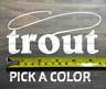 Trout Sticker Decal Simms Sage Rio Ross Orvis Fly Fishing Fish Rainbow Brooke XO