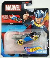 Hot Wheels Marvel Character Car Thor with Action Feature 2019 Latest