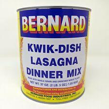 Bernard Foods Lasagna Dinner Mix SURVIVAL FOOD Emergency 50 SERVINGS-ONE#10 can