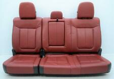2009 2014 Ford F150 F 150 Limited Oem Rear Red Leather Seats Crew Cab Fits Ford F 150