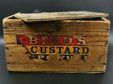 More details for victorian old pine birds custard box with shoe brushes
