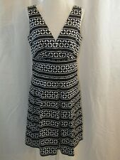 WHITE HOUSE BLACK MARKET-Black with White Sleeveless Dress - Size 4 NWT