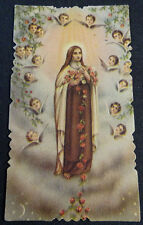 ESTAMPA HOLY CARD VIRGEN MARIA Y ANGELES  MIRA MI TIENDA CC1442