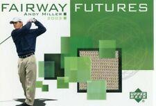 2003 ANDY MILLER UPPER DECK FAIRWAY FUTURES AUTHENTIC GOLF SHIRT CARD !