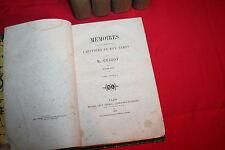 MEMOIRES POUR SERVIR A L'HISTOIRE DE MON TEMPS M.GUIZOT éd M.LEVY 1858 5 VOLUMES
