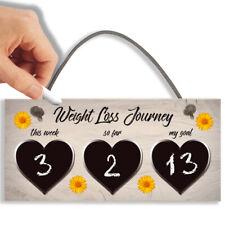 Weight Loss Tracker Chalkboard Hanging Sign Weight Watchers Progress Plaque