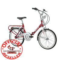Florence Bike Hi-Tension 20 Folding Color Red and White 1833 Cinzia