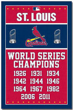 ST LOUIS CARDINALS - WORLD SERIES CHAMPIONS POSTER - 22x34 BASEBALL 6706