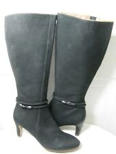 ECCO Leather Knee high Black Boots Women's Shoes Size 42 / 11