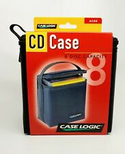 Case Logic CD Case ⭐️ 8 Disc Capacity ⭐️  Model ACD8 - 🔥| Free Ship USA | ✓