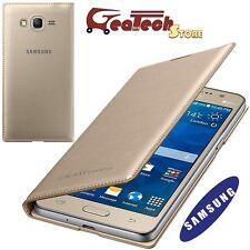Custodia Flip Wallet Originale Samsung per Galaxy Grand Prime G530F Cover Gold