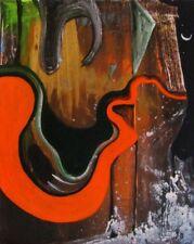 """Gerardo Gomez Salvador artista acrylique sur toile , canvas , """"Acantilado"""" 2018"""