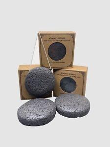 Eco Friendly Konjac Sponge, Exfoliator for Acne-Prone, Dry, Sensitive Skin