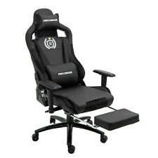 Gaming Chair PC Swivel Seat High-Back Racing Ergonomic Leather Office Black