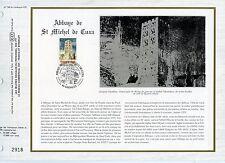 FEUILLET CEF / DOCUMENT PHILATELIQUE / ABBAYE DE ST MICHEL DE CUXA 1985 CODALET