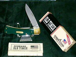 Schrade 5OTG Knife Bruin Lockback 1990's W/Original Packaging USA Made Rare set