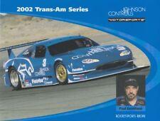2002 Paul Gentilozzi Johnson Controls Jaguar XKR SCCA Trans-Am postcard