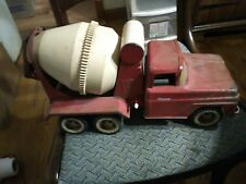 VINTAGE TONKA CEMENT MIXER PRESSED STEEL CONSTRUCTION TRUCK WHITE WALLS