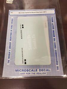 Microscale Santa Fe Wood Chip Cars1987+ HO Decals 87-4128