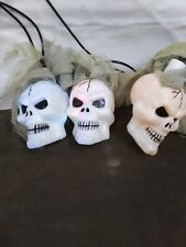 Battery and plug String Lights Skull Shaped Halloween Hanging ghost 2 strands