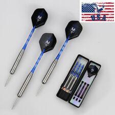 28g Professional Steel Tip Darts Set Shafts Dart with Dart Flights