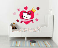 Hello Kitty Personalized Name Custom Decal Wall Sticker Mural WC148