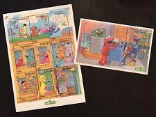 Kiribati Sesame Street Stamps Sheet + Ss 2000 Mnh Big Bird Cookie Monster Henson