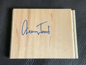 Jerry West Signed Floorboard Piece ~ Los Angeles Lakers THE LOGO