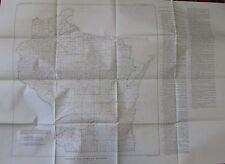 Geology Folded Geologic Map Index Wisconsin Green Bay LaCrosse Milwaukee 1953