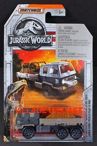 2018 Matchbox Jurassic World™ #1 Off-Road Rescue Rig™ MATTE DARK GREY / MOC