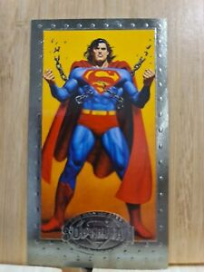 SUPERMAN🏆1994 Widevision Skybox #28 LARGE Trading Card🏆FREE POST