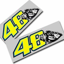 Rossi `46` ART style stickers  motorcycle decals custom graphics x 2