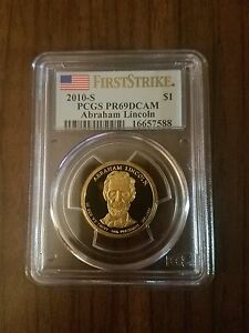 2010-S Abraham Lincoln Dollar Coin First Strike PCGS PR69DCAM