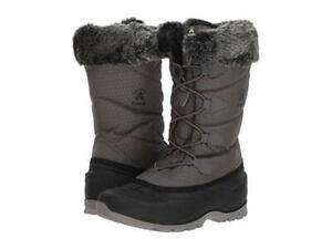 Cognac Kamik Women/'s Evelyn 4 Insulated Waterproof Winter Lace-Up Boots