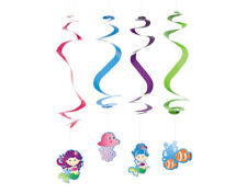 12 Mermaid Party Hanging Swirl Party Decorations