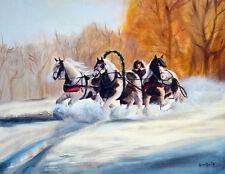 Gypsy Troika: Gypsy Vanner, Horse Cob 8X10