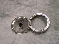 Regular (Small) Mouth Ball Mason Jar Lid With Band Modified for Straw
