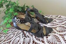 Coach Shoes Heels MILA US 10 B Black Leather Buckle Sandals Dress stilletto