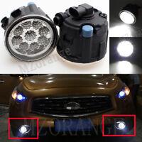 2X 9 LED Front Fog Light Lamps For Nissan Cube Murano Juke Infiniti EX FX 37 35