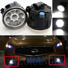 2X 9 LED Front Fog Light Lamps For Nissan Cube Murano Juke Infiniti EX FX 37 35