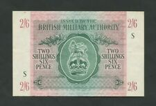 More details for british military authority  2/6  wwii  krause m3 good vf  banknotes