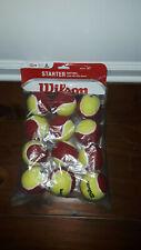 New Wilson Tennis Ball Kids Beginner Starter Game Red Easy Ball 12 Pack