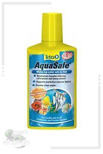 Tetra Aquasafe 50ml 100ml 250ml Aquarium Tap Water Conditioner Chlorine Remover