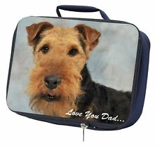 More details for welsh terrier dog 'love you dad' navy insulated school lunch box bag, dad-136lbn