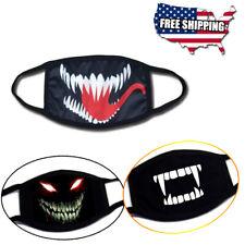 3 pcs Venom Devil Evil Monster Vampire Cotton Masks Scary Half Face Mouth Cover