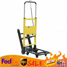 Electric Stair Climbing Hand Truck Folding 6 Wheels Cart Dolly 440 Lbs Maxload