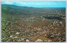 Aerial View National Memorial Cemetery Punchbowl Crater Honolulu Hawaii Postcard