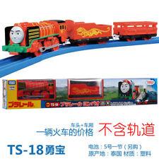 JAPAN TOMY THOMAS MOTORIZED TOY TRAIN TS-18 YANBAO W/ 2 TRUCKS 618942