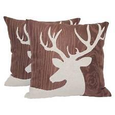 "Brown Deer Silhouette Lodge Toss Throw Pillow 2 Pack (18""x18"") - Brentwood"