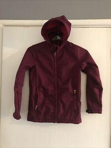 Girls - Coat Age 12 Years - Burgundy - Hooded - Water resistance - Windproof